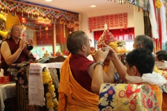 Goddess Namgyalma Long Life Puja offered to H.E Dagyab Rinpoche on 3 Mar 2012.